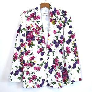 🌺 Worthington Size 10 Floral print Formal Blazer